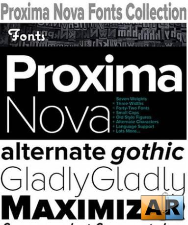17 Proxima Nova Fonts Collection