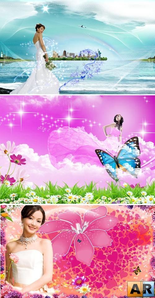 PSD templates - Beautiful girls 4