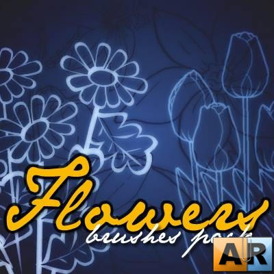 Flowers Brushes pack