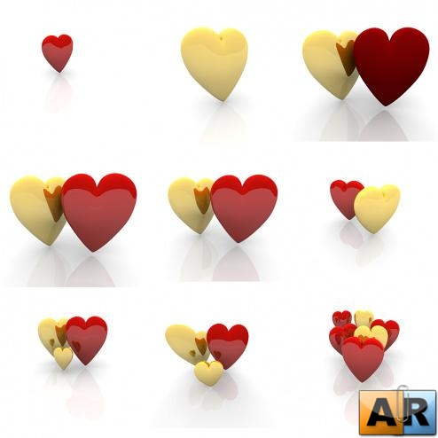Lovely Valentine Hearts Graphics