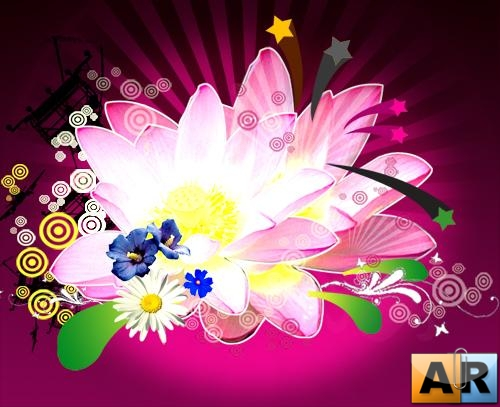 Very beautiful flower ( PSD )