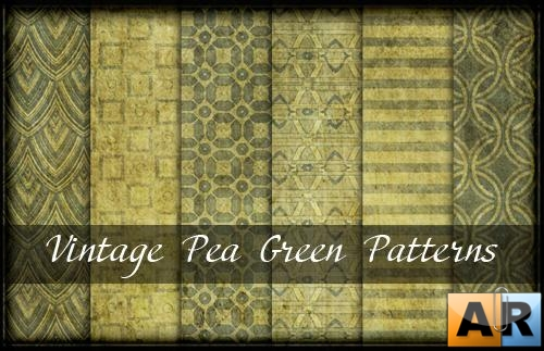 Vintage Pea Green Patterns