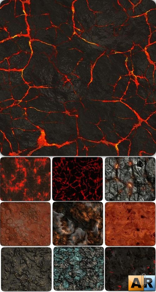 Бесшовные текстуры - Seamless Collection: Gaseous Volcanic