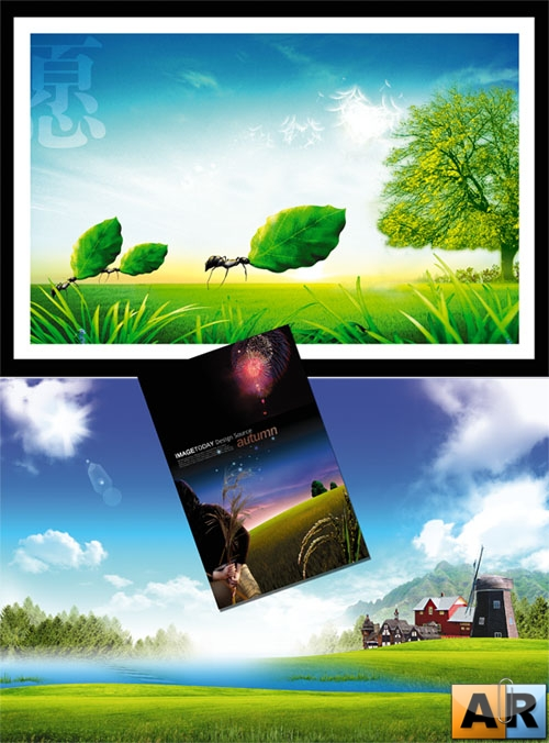 PSD templates - Nature 10