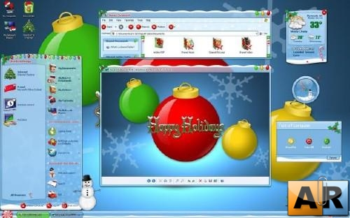 Winter Wonderland - тема для xp и vista (WindowBlinds)