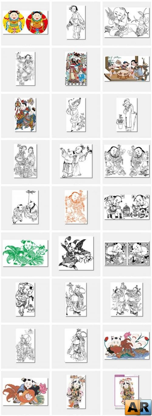 Chinese Myths Vector