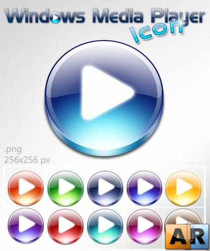 Windows Media player icons(14 icons .png 256x256 px)