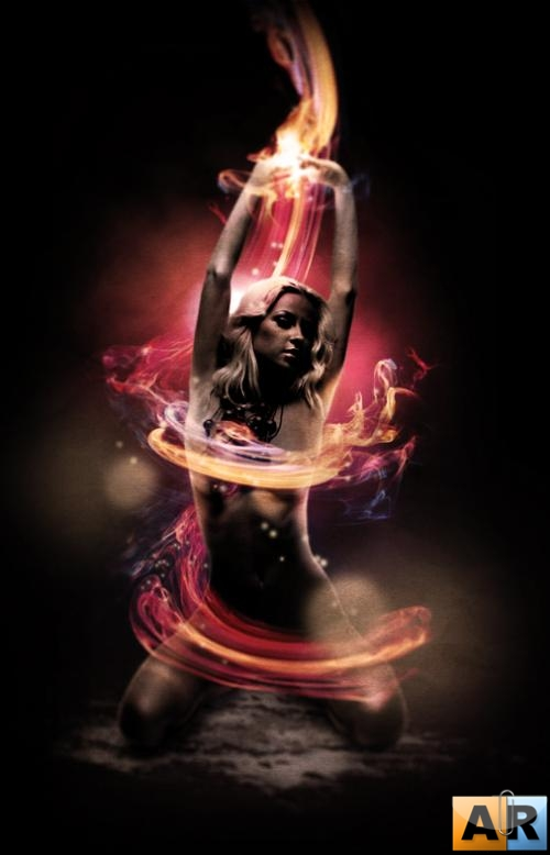 Blazing girl PSD