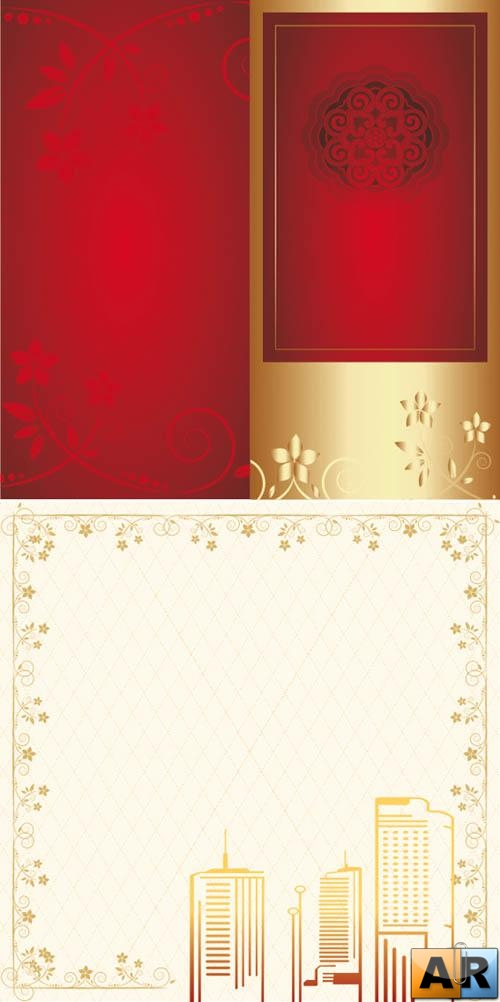 Red and gold cards
