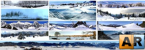 Background - Panoramic of winter
