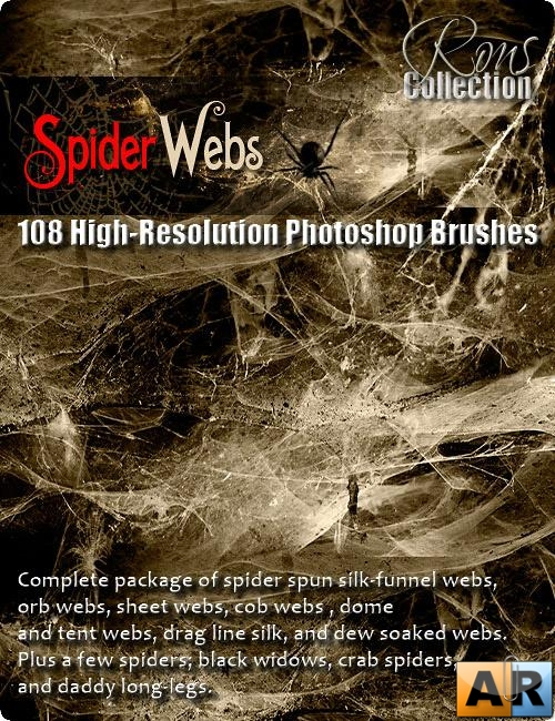 Rons Collection - Brushes Spider Webs