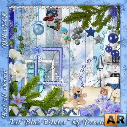 Скрап набор - Blue Winter