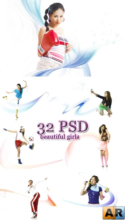 32 PSD beautiful girls