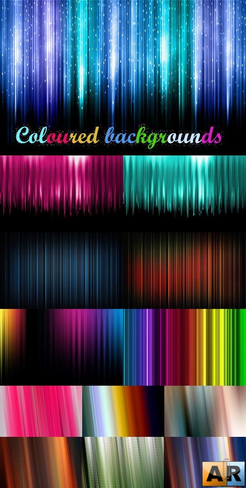 Coloured, brilliant backgrounds