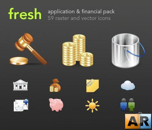 Finance and Applications Icons