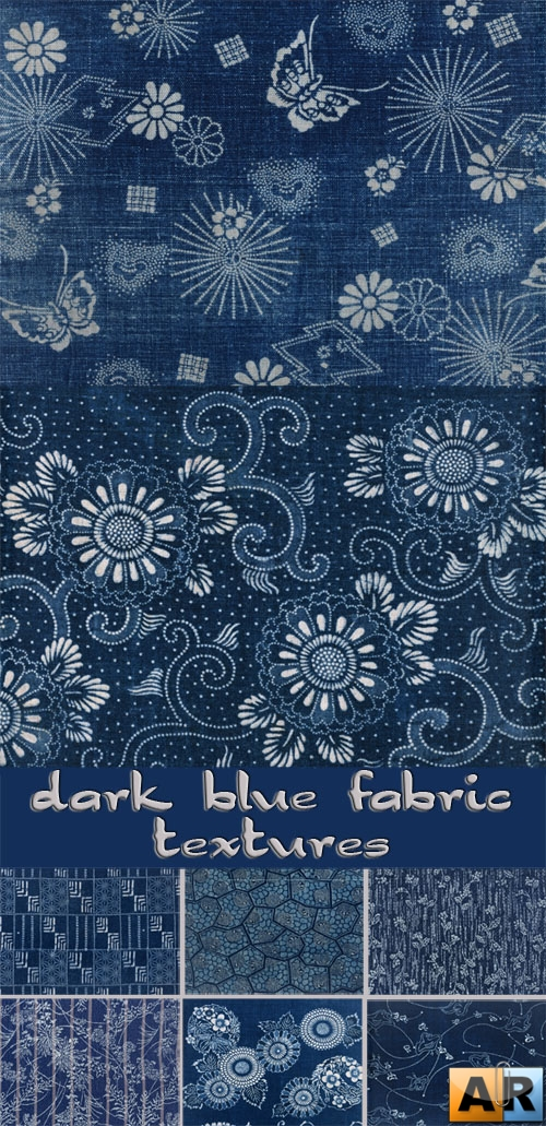 Dark blue fabric textures