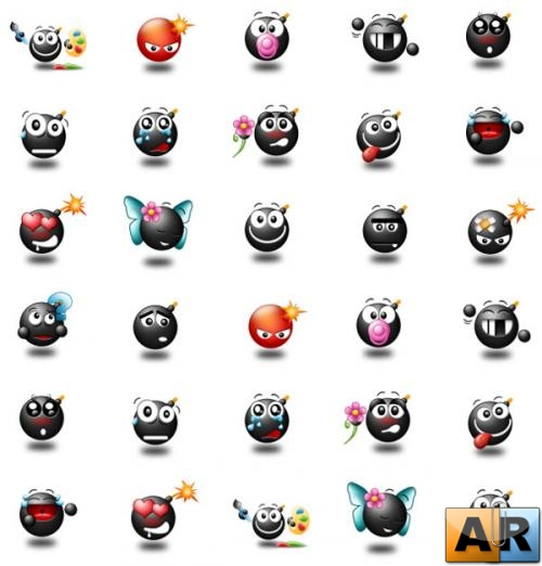 Dark Smile Icons Pack