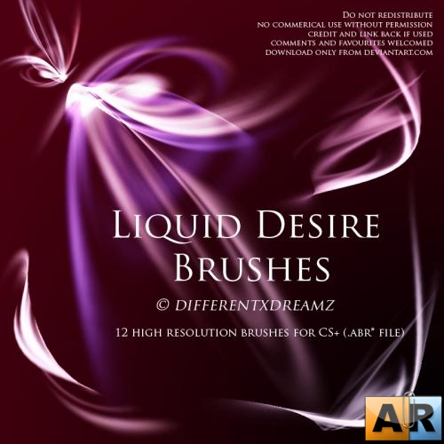 Liquid Desire (Непостоянная страсть) Brushes by Differentxdreamz