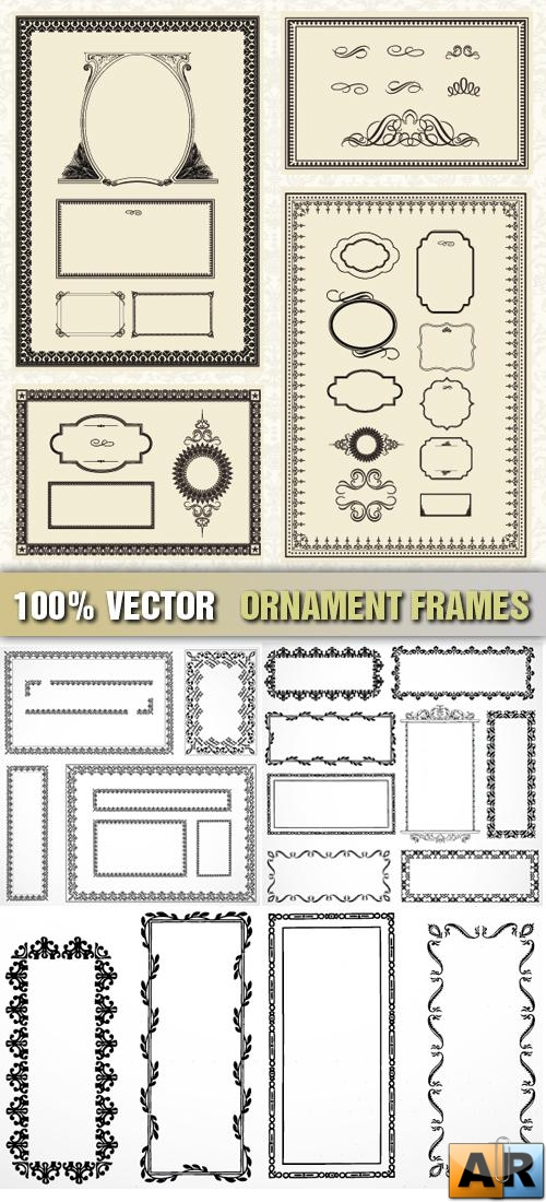 Stock Vector - Ornament Frames