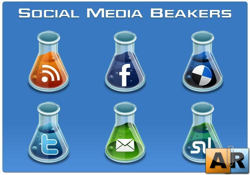 Social Media Beakers Icons