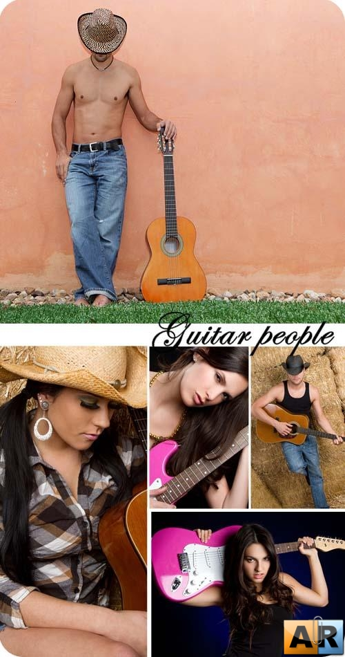 Stock Photo: Guitar people
