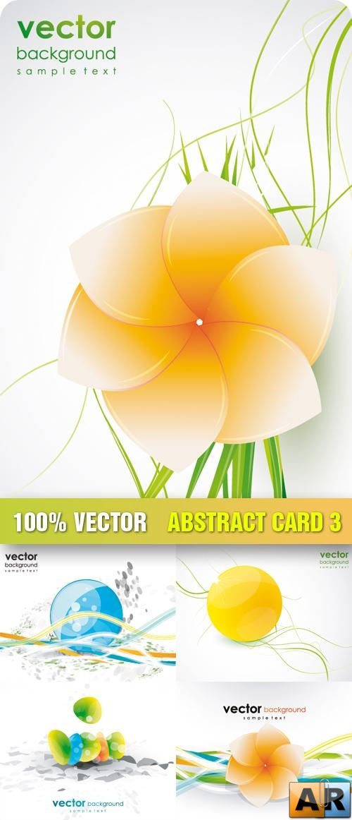 Stock Vector - Abstract Card 3