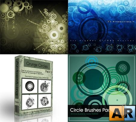 Circles Photoshop Brush Pack