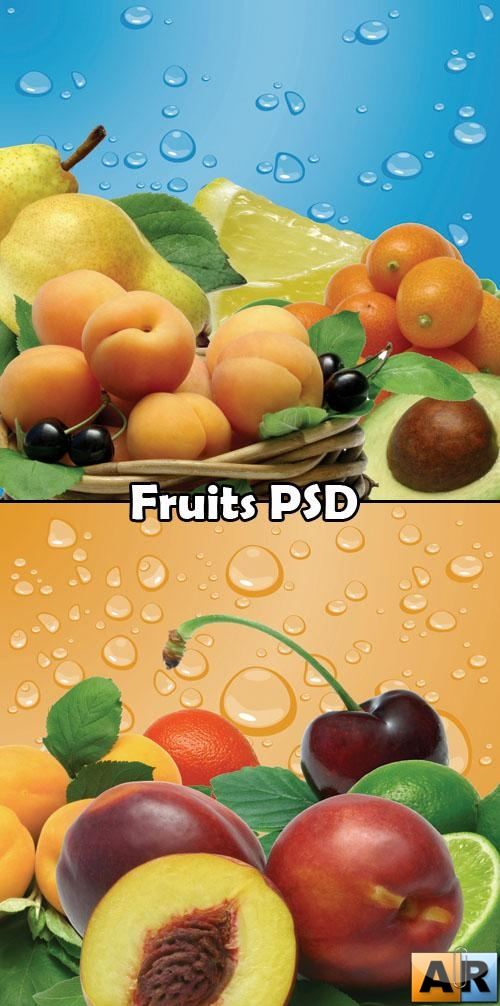 Fruits PSD - Фрукты