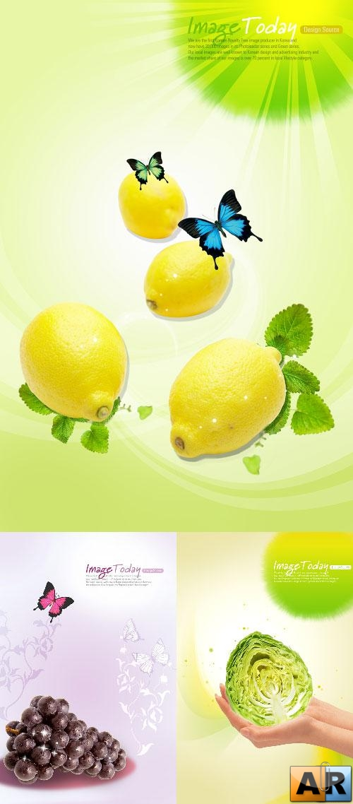 Fruits in psd