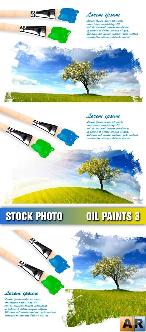 Stock Photo - Oil Paints 3