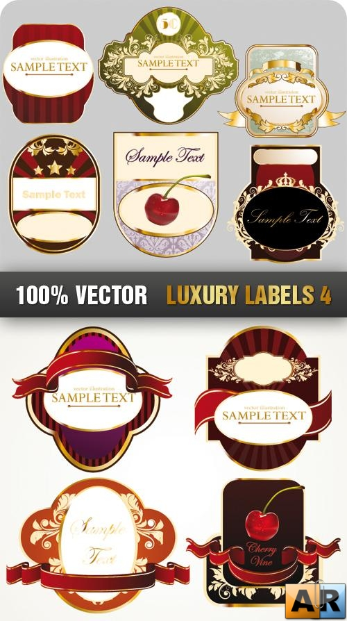 Stock Vector - Luxury Labels 4