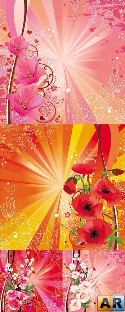 Spring & Summer Floral Backgrounds