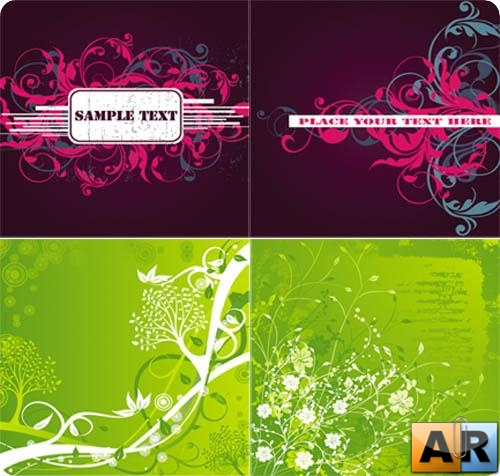 Collection of vector backgrounds № 1