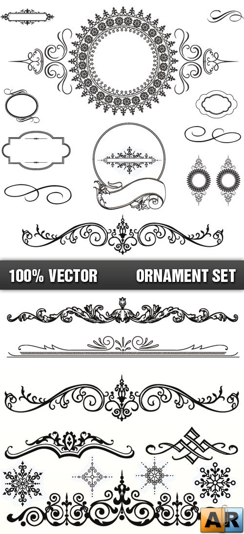Stock Vector - Ornament Set