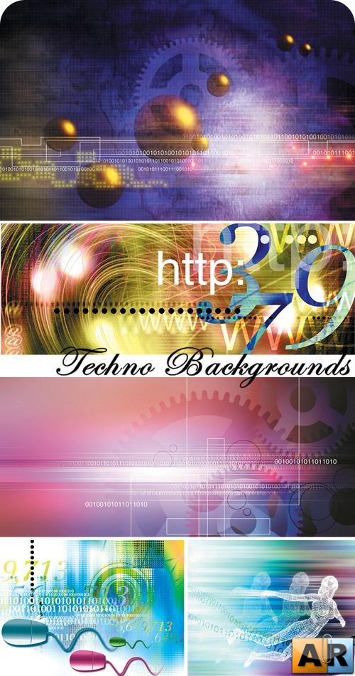 Stock Photo: Techno Backgrounds