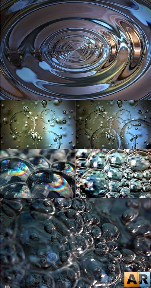 Liquid glass textures