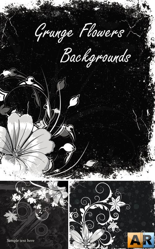 Grunge Flowers Backgrounds