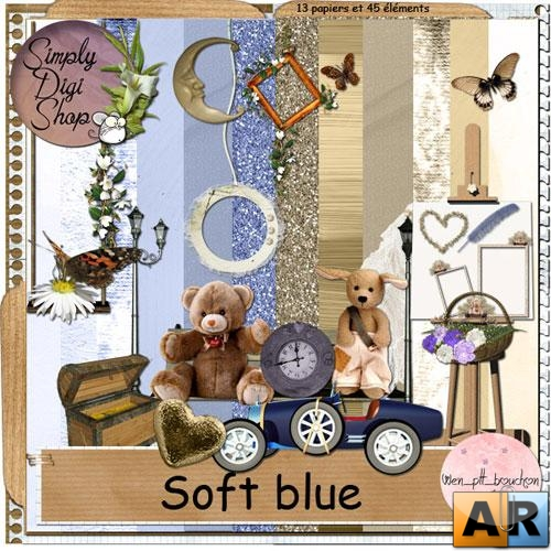 Scrap kit - Soft Blue (Скрап набор -  Мягкая синева)