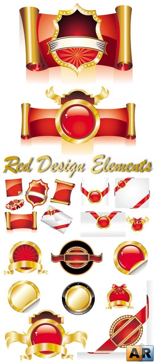 Red Design Elements Vector