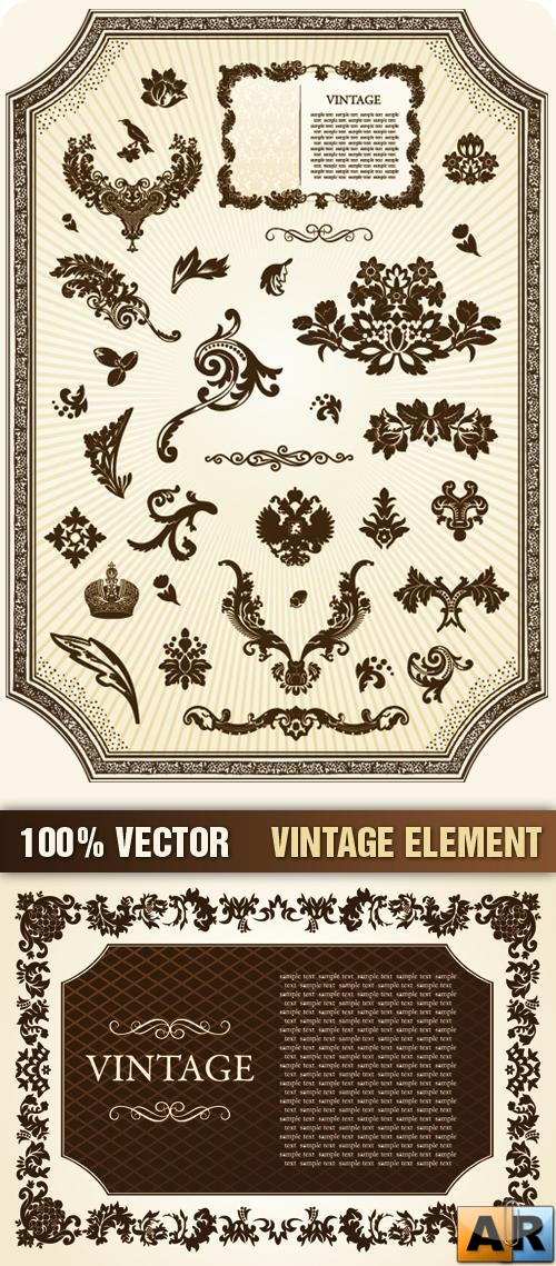 Stock Vector - Vintage Element
