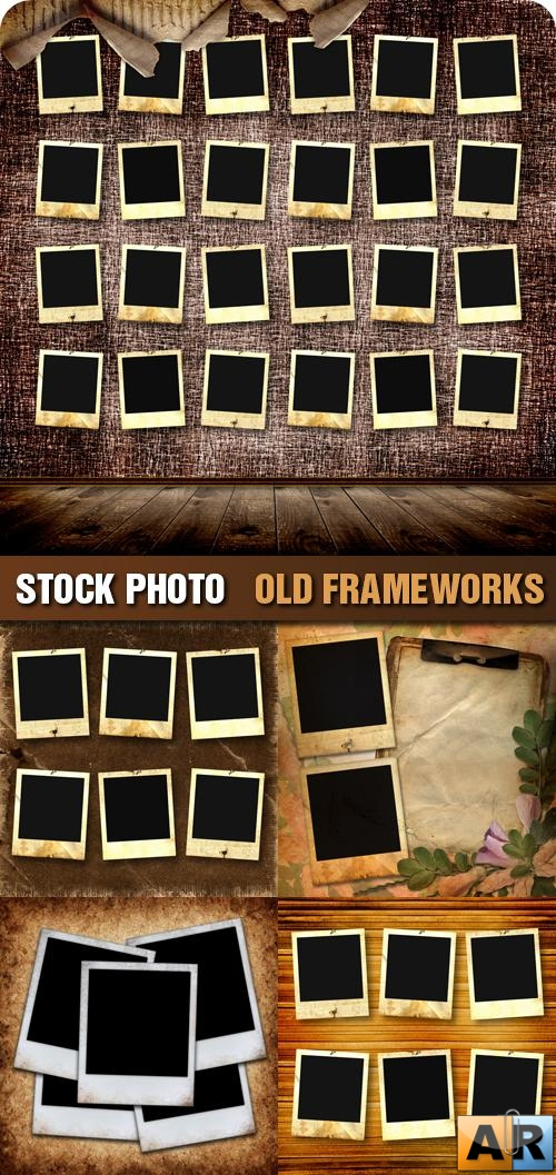 Stock Photo - Old Frameworks