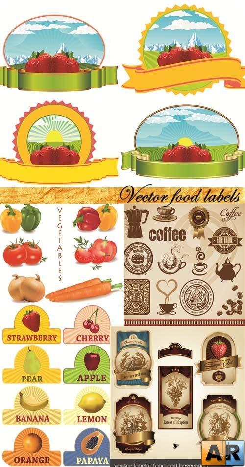 Vector food labels