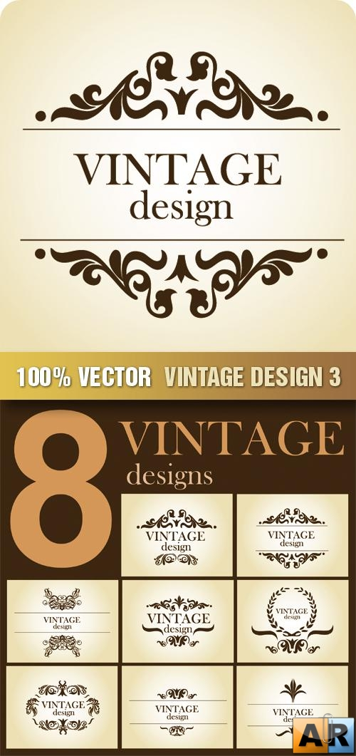 Stock Vector - Vintage Design 3