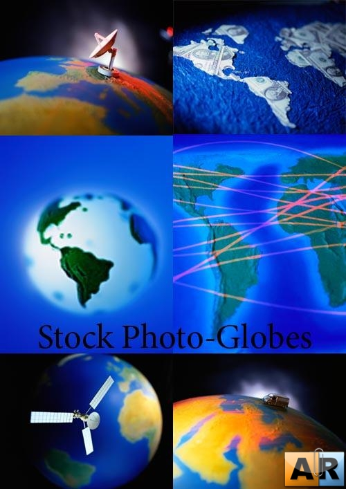 Stock Photo-Globes Mix