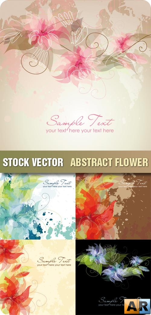 Stock Vector - Abstract Flower