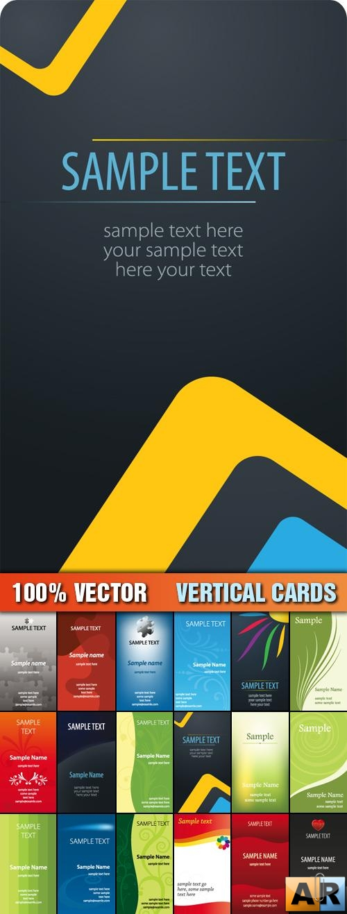 Stock Vector - Vertical Cards