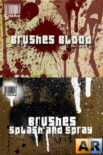 Blood, Splashes and Spray Photoshop Brushes
