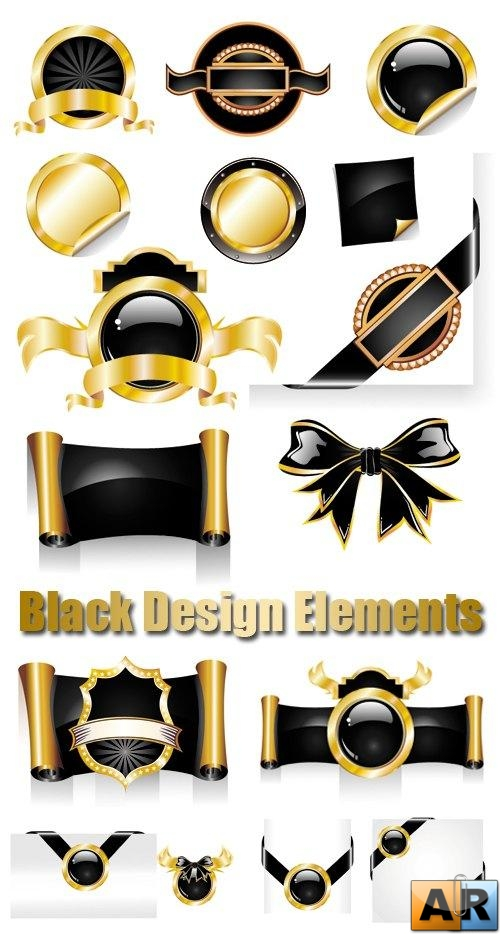 Black Design Elements Vector