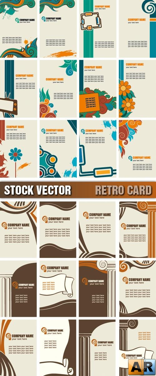 Stock Vector - Retro Card
