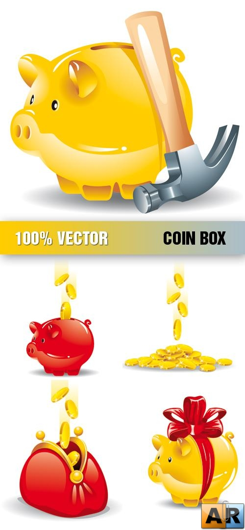 Stock Vector - Coin Box